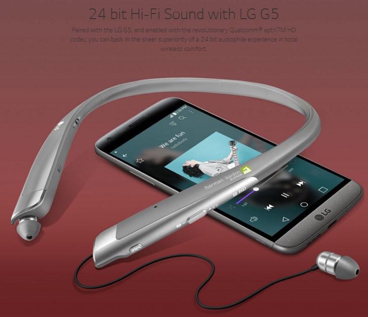 LG HBS-1100 Tone Platinum Bluetooth Stereo Headset - Titan Silver