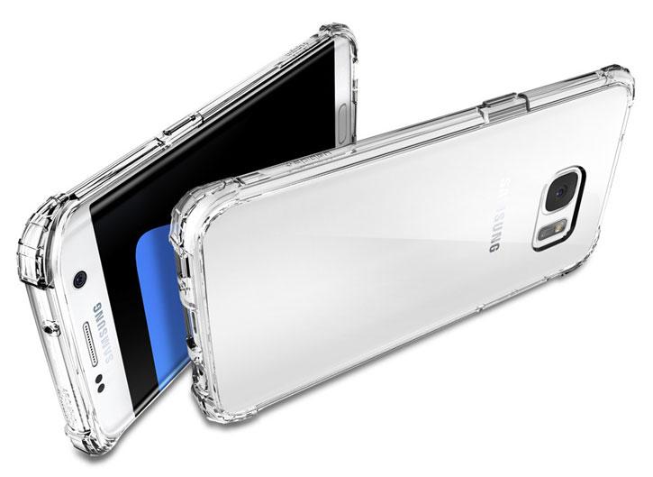 Spigen Crystal Shell Samsung Galaxy S7 Edge Case - 100% Clear