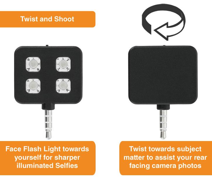 Lumière Flash LED Loooqs Universelle pour smartphones