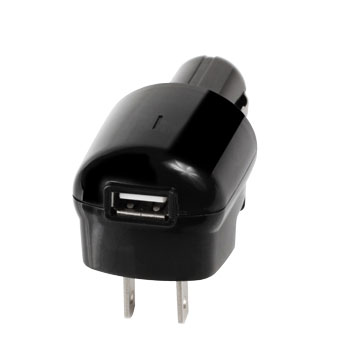 Delton 3 in 1 Micro USB Charger Kit with Retractable Cable - US Outlet