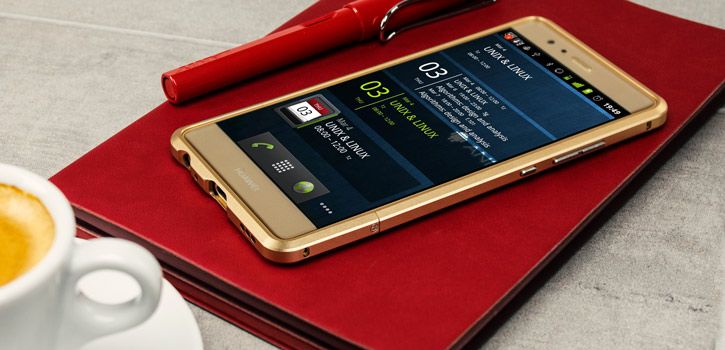Luphie Blade Sword Huawei P9 Aluminium Bumper - Gold