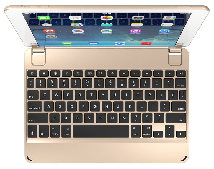 BrydgeAir Aluminium iPad Pro 9.7 / Air 2 / Air Keyboard - Gold