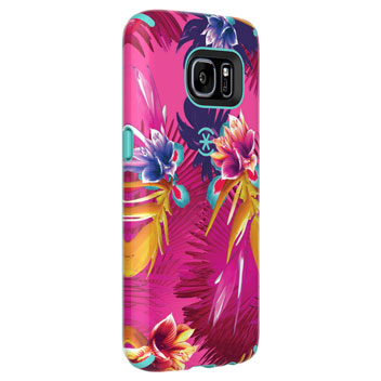 Speck CandyShell Inked Samsung Galaxy S7 Case - Wild Tropic Fuchsia