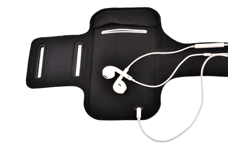 Universal Sport-fit Armband for Medium-Sized Smartphones - Black