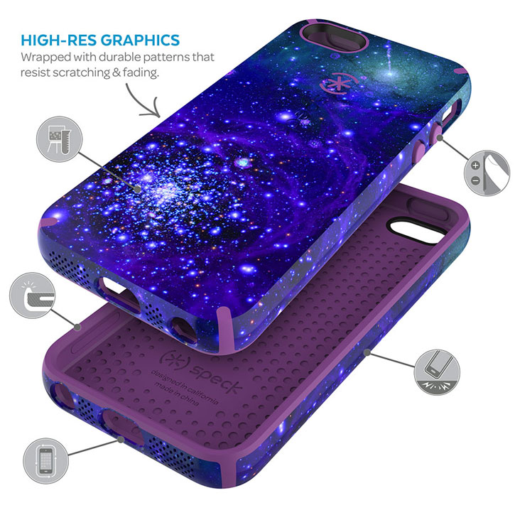 Speck CandyShell Inked iPhone SE Case - Galaxy Purple