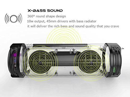 Superspot Toughtube Rugged Outdoor Wireless PowerBank Speaker - Orange
