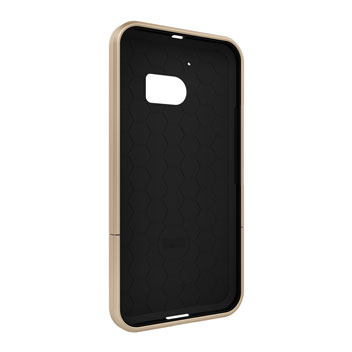 Seidio SURFACE HTC 10 Case & Metal Kickstand - Gold / Black