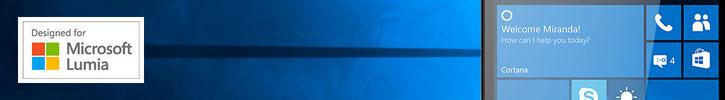 Mozo Microsoft Lumia 950 Wireless Charging Back Cover - Wood