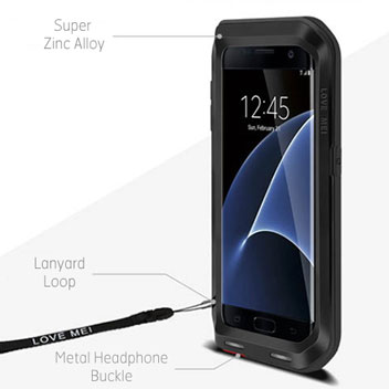 Love Mei Powerful Samsung Galaxy S7 Edge Protective Case - Black