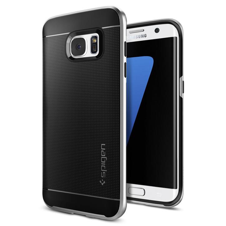 Spigen Neo Hybrid Samsung Galaxy S7 Edge Case - Satin Silver