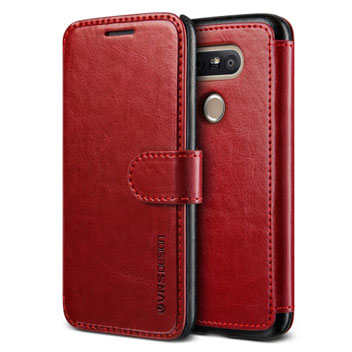VRS Design Dandy Leather-Style LG G5 Wallet Case - Red
