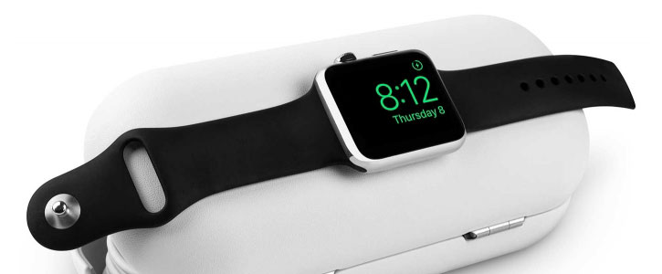 Twelve South TimePorter Apple Watch Charging Stand Case - White