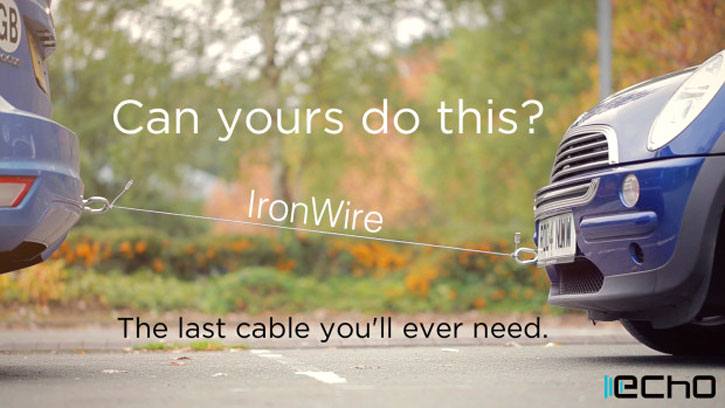 Echo IronWire Ultra-Strong Lightning Cable - 20cm