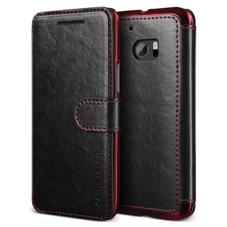 VRS Design Dandy Leather-Style HTC 10 Wallet Case - Black