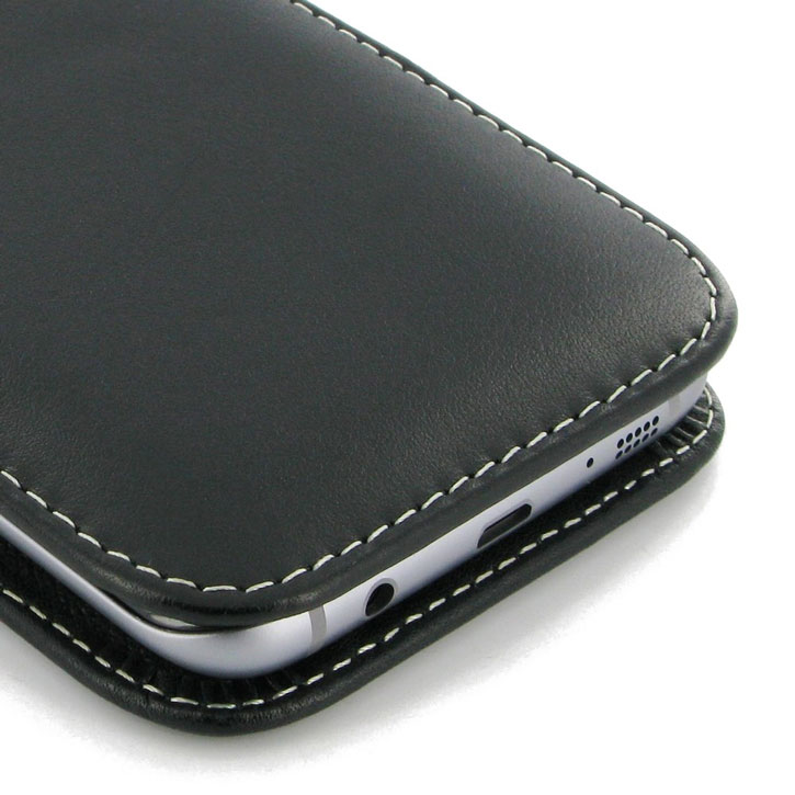new style 61287 a9cb1 PDair Samsung Galaxy S7 Edge Leather Pouch Case with Belt Clip