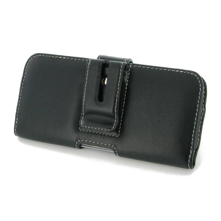 PDair Horizontal Leather Samsung Galaxy S6 Edge Plus Case - Black