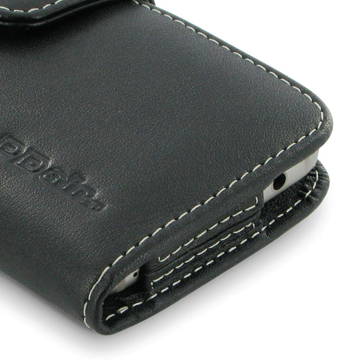 PDair Horizontal Leather Samsung Galaxy S7 Case with Belt Clip