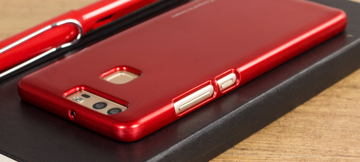 Mercury Goospery iJelly Hauwei P9 Gel Case - Metallic Red