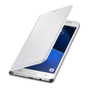 Official Samsung Galaxy J3 2016 Flip Wallet Cover - White