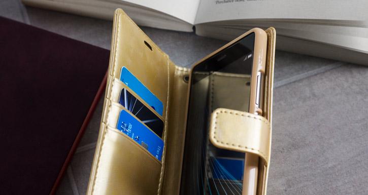 Mercury Blue Moon Huawei P9 Plus Wallet Case - Gold