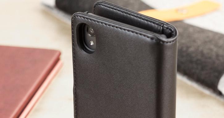 games olixar genuine leather sony xperia x wallet case black 1 Neil