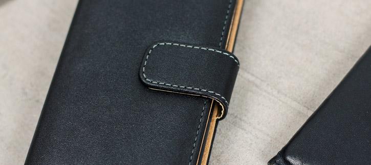 Olixar Leather-Style Sony Xperia XA Wallet Case - Black / Tan