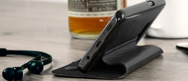 Vaja Agenda Samsung Galaxy S7 Premium Leather Case - Black