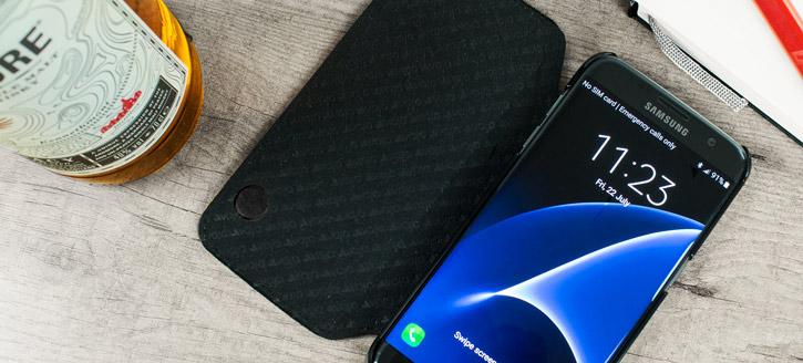 Vaja Agenda Samsung Galaxy S7 Edge Premium Leather Case - Black