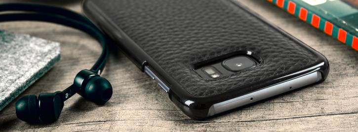 Vaja Wrap Samsung Galaxy S7 Edge Premium Leather Case - Black
