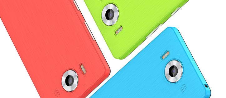 Cache Batterie Lumia 950 Mozo Chargement sans fil - Corail vue sur appareil photo