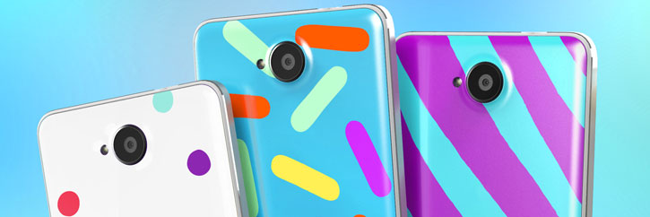 Mozo Microsoft Lumia 650 Back Candy Cover Case - Candy Beans