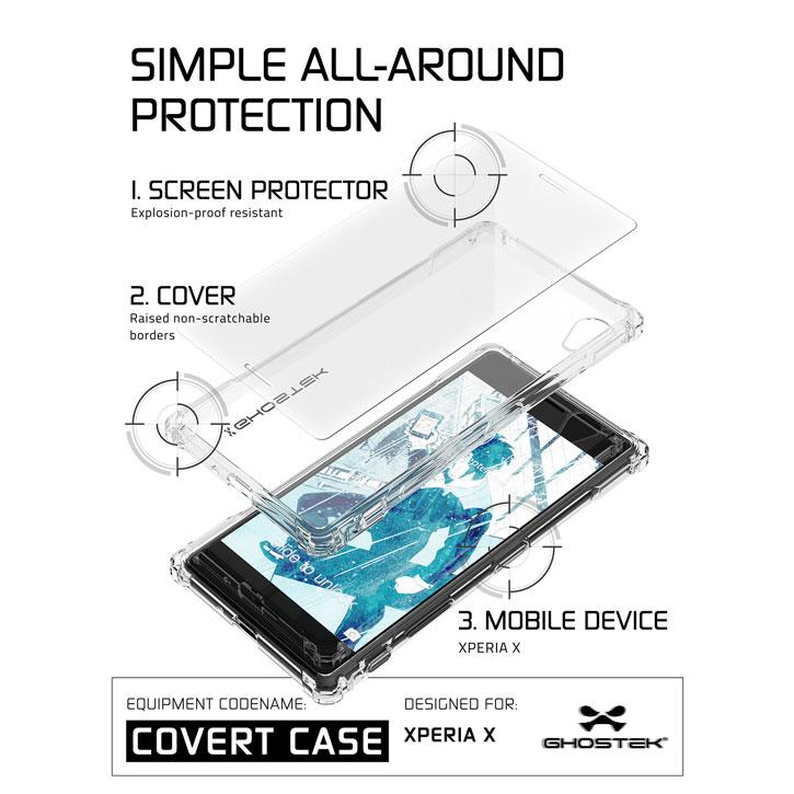 Ghostek Covert Sony Xperia X Bumper Case - Clear