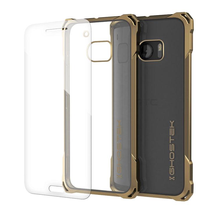 kis ghostek covert htc 10 bumper case clear gold