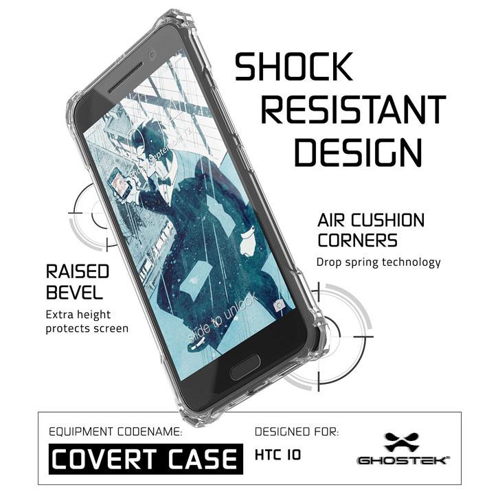 Ghostek Covert HTC 10 Bumper Case - Clear