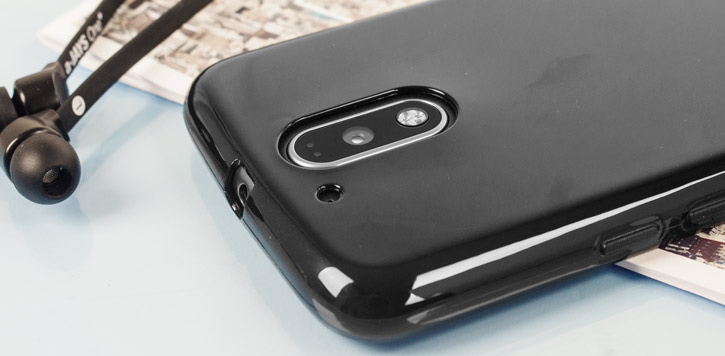 Olixar FlexiShield Moto G4 Gel Case - Solid Black