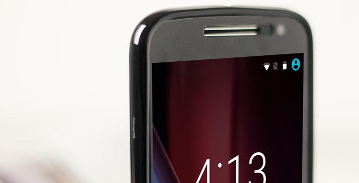 Olixar FlexiShield Moto G4 Plus Gel Case - Solid Black
