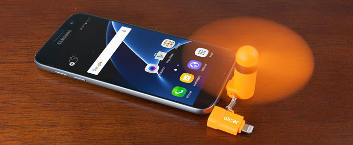 Olixar Pocketbreeze Mini Smartphone Fan - Orange