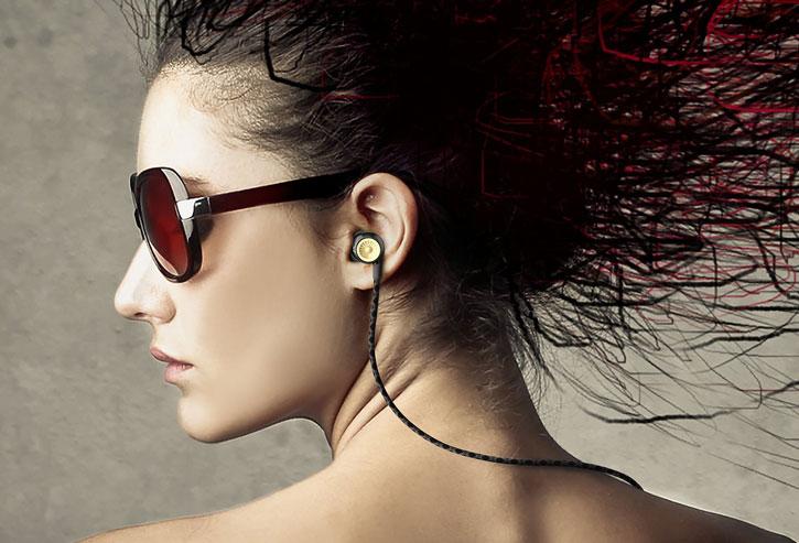GhostekTurbine Series HD Sound Hands-Free Earphones - Black / Gold