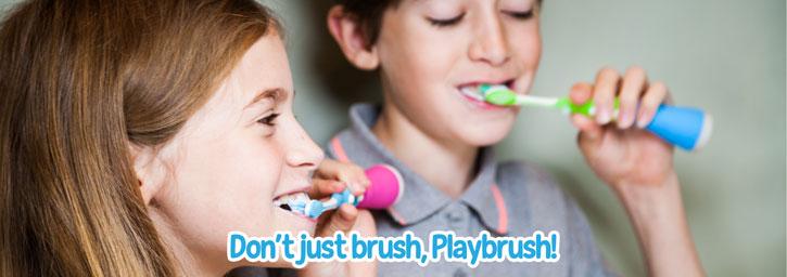 Playbrush Bluetooth Interactive Toothbrushing Game - Blue