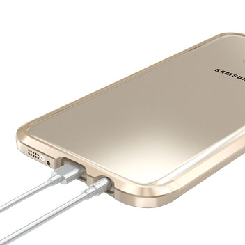 Luphie Blade Sword Samsung Galaxy S7 Edge Aluminium Bumper - Gold
