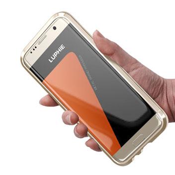 Luphie Blade Sword Samsung Galaxy S7 Aluminium Bumper - Gold