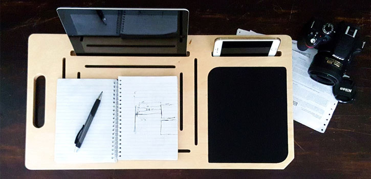 LapPad MacBook, Tablet & Smartphone Lap Tray Organiser