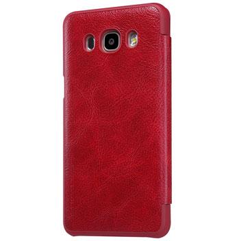 Nillkin Qin Real Leather Samsung Galaxy J7 2016 Window Case - Black