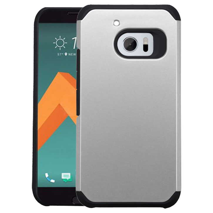 Zizo Slim Hybrid HTC 10 Tough Case - Black /  Silver