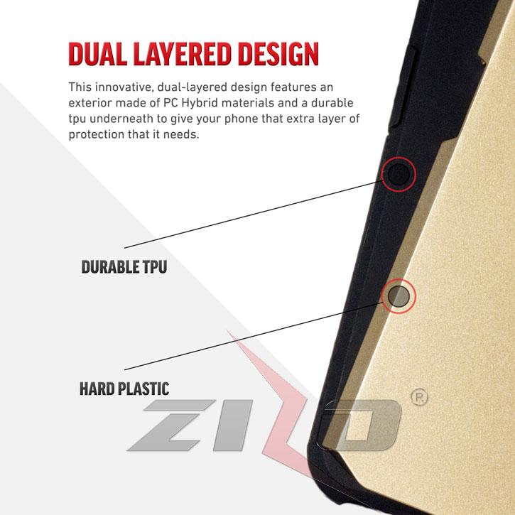 Zizo Slim Hybrid HTC 10 Tough Case - Black /  Gold