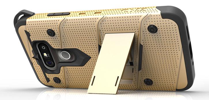 Zizo Bolt Series LG G5 Tough Case & Belt Clip - Gold