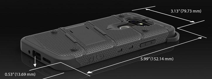 Zizo Bolt Series LG G5 Tough Case & Belt Clip - Black