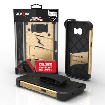 Zizo Bolt Series Samsung Galaxy S7 Tough Case & Belt Clip - Gold
