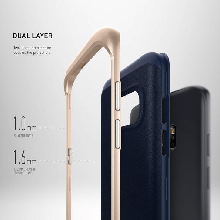 Caseology Envoy Series Galaxy S7 Edge Case - Navy Blue
