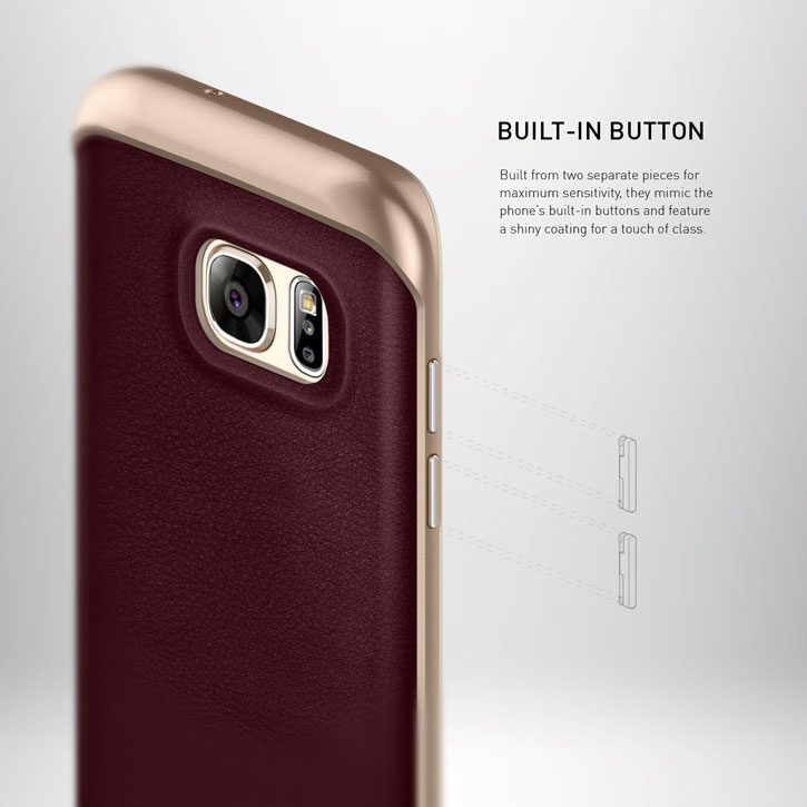 Caseology Envoy Series Galaxy S7 Edge Case - Cherry Oak